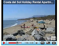 Video of our Cabopino apartments and beach and marina